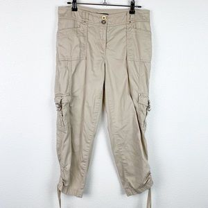 White House Black Market Taper Crop Khaki Pants 4